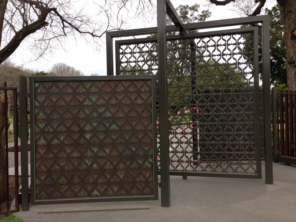 So much to do in one day in Adelaide starting the morning at the Botanical Gardens, a lovely coffee and then a walk to the Ginko Gate by Hossein and Angela Valemanesh.