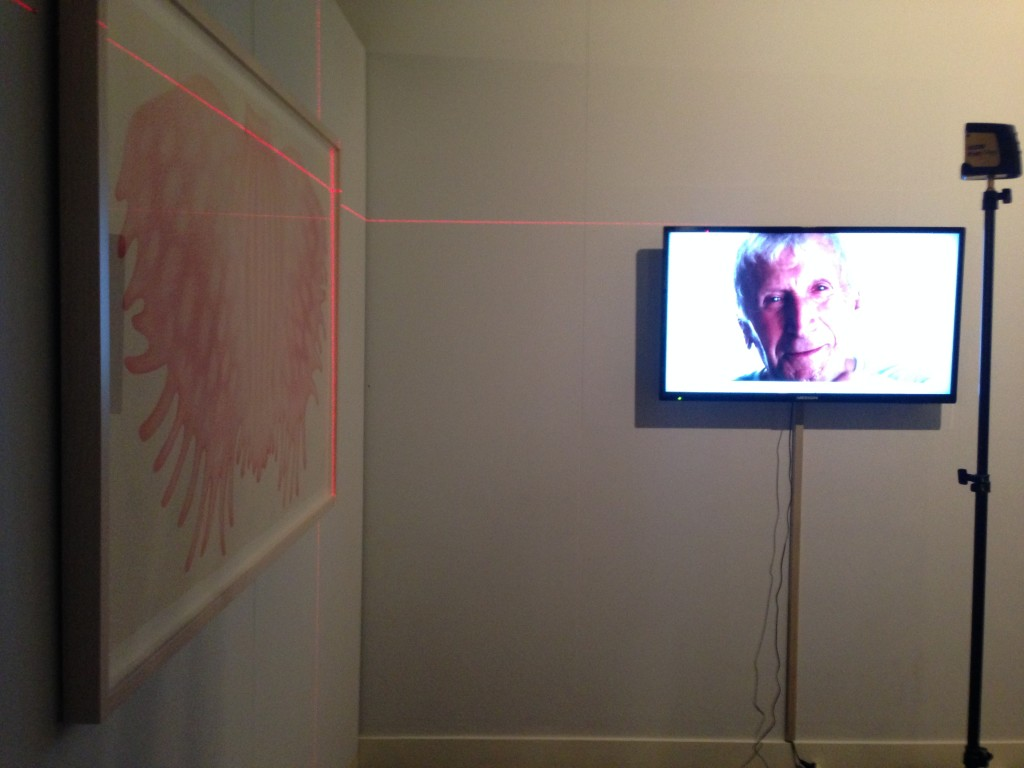 Installing a smaller version of Mother Tongue at Gipplsand Art Gallery, two new drawings and the 15 minute Mother Tongue video.