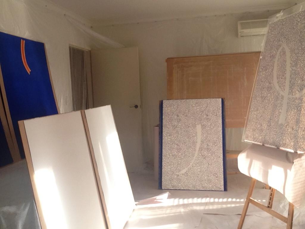 Work in progress in the studio.