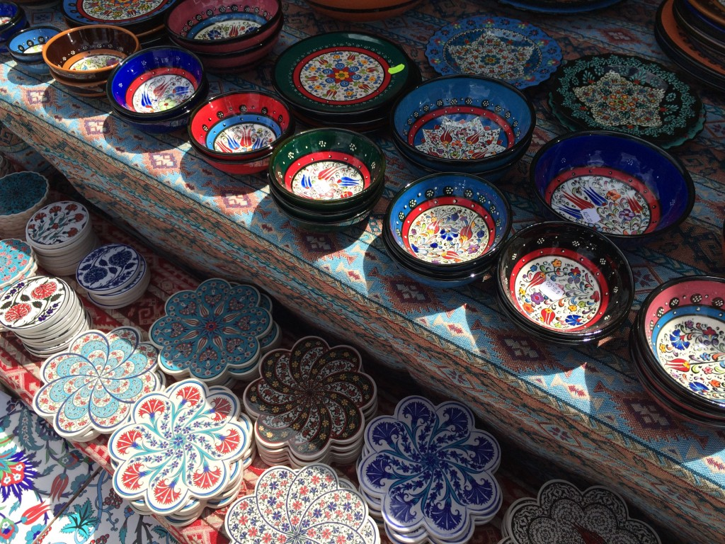 Beautiful plates and tiles from Turkey.