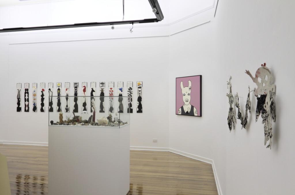 Wonder Room, Installation View. Rona Green, Paul Compton, Heather Shimmen, Deborah Klein and Filomena Coppola